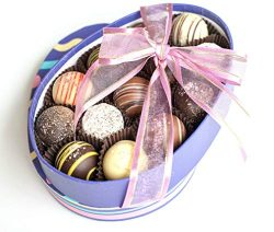 Easter Egg Chocolate Truffle Box, Gourmet 12 Piece Assorted Truffles, Gift or Easter Basket Stuf ...