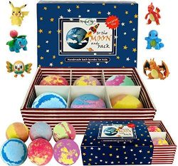 Kids Bath Bombs with Toys Inside – All Natural w/Shea Butter and Essential Oils. Gentle an ...