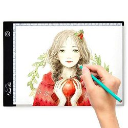 Tracing Light Box for Drawing, A4 Ultra Thin Portable LED Lightbox for Kid and Adult Artist, Ste ...