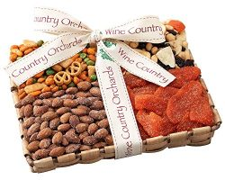 Wine Country Orchards Dried fruit and Mixed Nut Gift Tray Gourmet Food Prime Thanksgiving Delive ...