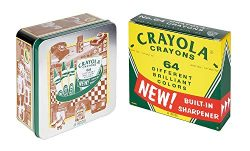 Crayola 60th Anniversary 64Count Crayon Set with Collectible Tin, Easter Basket Stuffers, Gift
