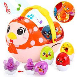 Toddler Easter Basket Stuffers with Melodies, Baby Music Toy Easter Gift for 12M – 16 M &# ...
