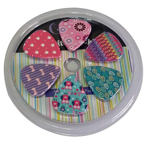 Girly Guitar Picks Set – Medium Celluloid 12-piece- Unique Colorful Designs – Best G ...