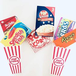 Movie Night Gift Package, Movie Theater Decoration, Movie Theater Gift Basket, Reusable Popcorn  ...