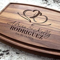 Two Hearts Wedding Personalized Cutting Board – Engraved Cutting Board, Custom Cutting Boa ...