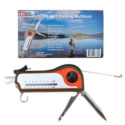 Fisherman Gift Tool Fishing Multitool – Hook Remover, Scale Scraper, Tape Measure, Bait Cu ...