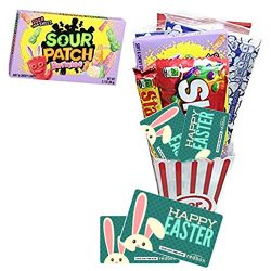 Happy Easter Movie Night Gift Basket ~ Limited Edition Sour Patch Bunnies ~ Includes Movie Popco ...