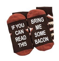 If You Can Read This Bring Me Socks – Beer, Wine, Bacon, Taco, Tea – Funny Novelty G ...