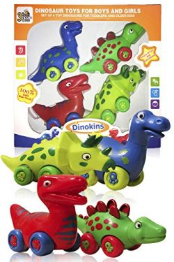 3 Bees & Me Dinosaur Toys for Boys and Girls – Set of 4 Toy Dinosaurs for Kids