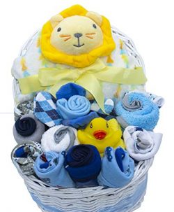 New Baby Bassinet Gift Set (Blue)