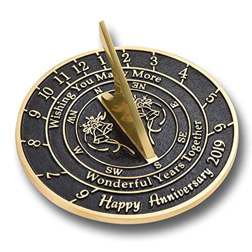 The Metal Foundry 'Wishing You' Wedding Anniversary 2019 Gift. This Unique Sundial G ...