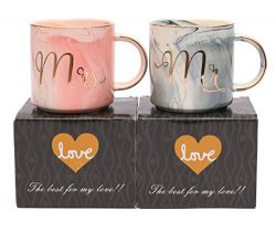 Luspan Mr and Mrs Couples Coffee Mugs – Unique Valentine's Day Gifts For Him Her &#8 ...