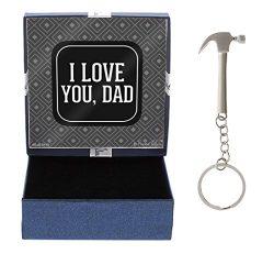 I Love You Dad Gift Dad Gift Hammer Keychain & Gift Box Bundle