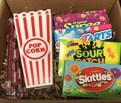 Movie Night Ultimate Gift Box Bundle Care Package, Easter, Valentines, Gift Basket, Date or Fami ...