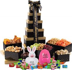 Easter Nut and Fruit Gift Tower – Healthy Gourmet Mix of 12 Assorted Nuts & Dried Fruits Wit ...