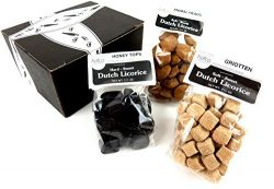 Hafco Dutch Licorice 3-Flavor Variety: One 3.5 oz Bag Each of Griotten, Honey Tops, and Animal H ...