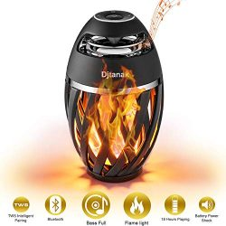 Djtanak Led Flame Lantern Speaker, Outdoor Torch Atmosphere Speakers with Stereo Sound, Exclusiv ...