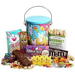 Easter Gift Tin of Chocolate and Candy – Premade Easter Basket Tin Delivered Prime for Kid ...