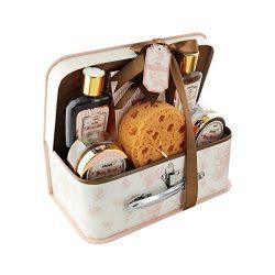 Spa Life All Natural Bath and Body Luxury Spa Gift Set Basket (Honey Green Tea)