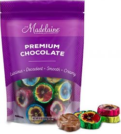 Madelaine Solid Premium Milk Chocolate Pansy Flowers Wrapped In Assorted Colors Of Italian Foil  ...