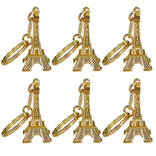 Ceeyali 20 Pcs 5cm Metal Paris Eiffel Tower Craft Art Statue Model for Table Decor,Cake Topper,G ...