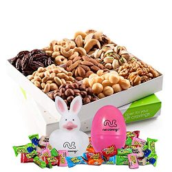 Easter Mixed Nuts Gift Basket, Gourmet Mix of Assorted Fresh Nuts Food Tray for Prime Holiday De ...