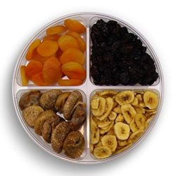 Gourmet Nuts Gift Baskets 4-Sectional Healthy Fresh Gift Idea For Christmas, Thanksgiving, Mothe ...