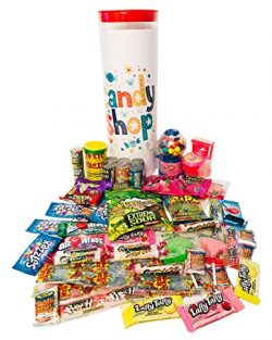 Children's Celebration Candy Gift Tower Assortment with Toxic Waste, Warheads Extreme, Laffy Taf ...