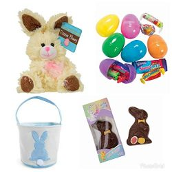 Easter Holiday Gift Basket sets for kids, Plush Chocolate Scented Bunny(9 Inch), Rabbit Chocolat ...
