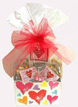 Large Vegan/Made Without Wheat or Gluten Valentines Day Gift Basket