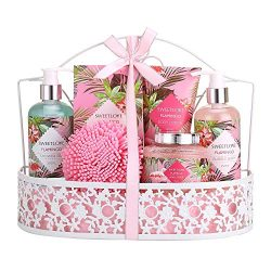 Mother's Day Gifts – Bath Spa Gift Set, SWEETLOVE Gift Basket 7-Piece Includes Bubbl ...