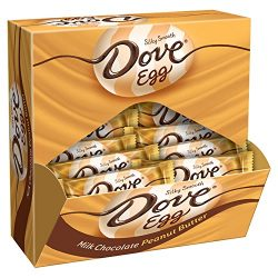 DOVE Easter Peanut Butter & Milk Chocolate Singles Size Candy Eggs 1-Ounce Bar 24-Count Box