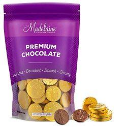 Madelaine Premium Milk Chocolate Gold Coins (Assorted Sizes, 1/2 LB)