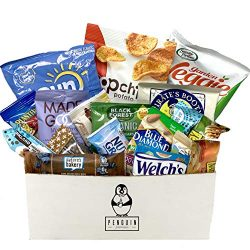Healthy Snacks Care Package (20 Count Variety Snack Pack) Assortment of Nuts, Bars, Healthy Chip ...