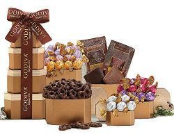 Remarkable Gift Co. Happy Easter Special Godiva Chocolate Gift Tower