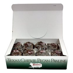 Lammes Texas Chewie Pecan Praline Candy 24 Piece Box – Enjoy Texas Pecans Combined With Ch ...