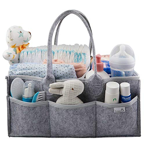 Putska Baby Diaper Caddy Organizer – Gift Registry for Baby Shower, Nursery Organizer, Neu ...