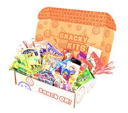 Snacky Kits – Perfect Kit – Care Package Deluxe Snack Sampler (55 Count) Gift Basket ...