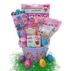 Easter Gift Basket – Fun LOL Surprise Toys, Chocolate, Candy, LOL Finders Keepers Egg LOL  ...