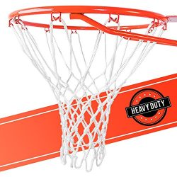 Ultra Heavy Duty Basketball Net Replacement – All Weather Anti Whip, Fits Standard Indoor  ...