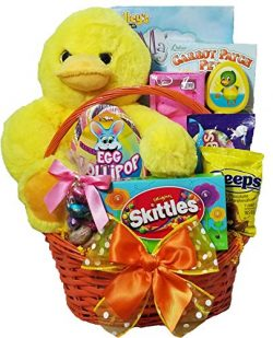 "Delight Expressions ""Lucky Ducky"" Easter Gift Basket for Girls – Sweets and Tr ..."