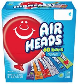 Airheads Bars Chewy Fruit Candy, Easter Basket Stuffers, Variety Pack, Party, Non Melting, 60Cou ...