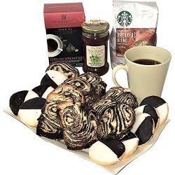 Kosher Cake Coffee Tea Basket – Babka Black & White Cookies Honey