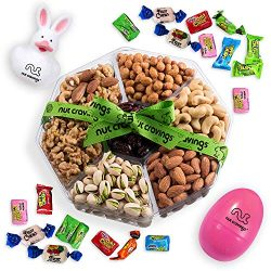 Easter Gourmet Nuts Gift Baskets with Fun Easter Bunny, Easter Egg with Easter Candy | Large 7-S ...
