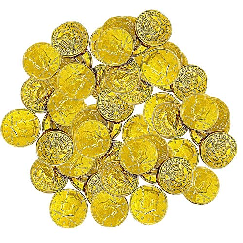 Chocolate Gold Coins – Large Bag of 60 Pieces Kennedy Gold Coins for Party Favors, Cake De ...