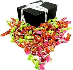 GoLightly Assorted Sugar Free Fruit Chews, 2 lb Bag in a BlackTie Box