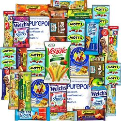CollegeBox Healthy Snacks 30 Count Care Package Variety Box Gift Pack Assortment Basket Bundle M ...