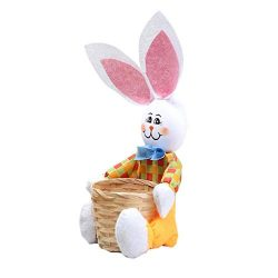Easter Bunny Basket | Candy Storage Basket Party Decoration Gifts (Yellow)