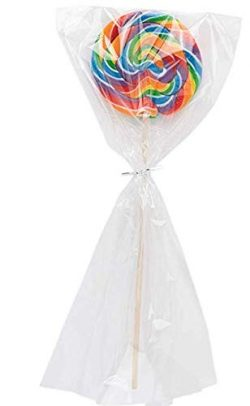 Clear Plastic Cellophane Bags With twist ties Cello Bags For Candies Nuts Small Gifts (200, 6&#8 ...