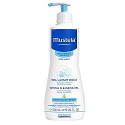 Mustela Gentle Cleansing Gel, Baby Hair & Body Wash, Plant-Based Formula with Natural Avocad ...